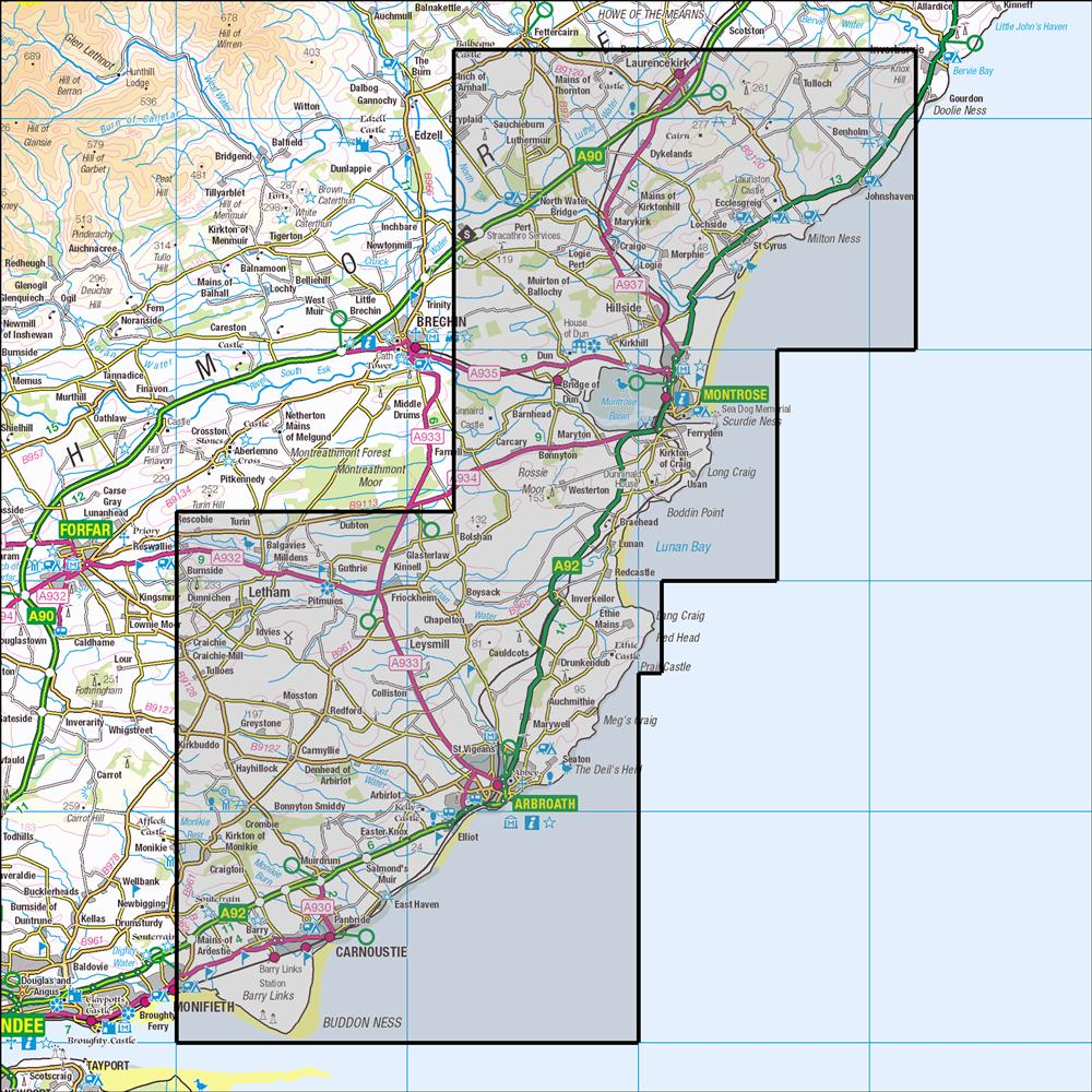 382 Arbroath Montrose Carnoustie Historical Mapping Anquet Maps