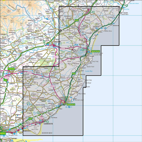 382 Arbroath, Montrose & Carnoustie - Anquet Maps