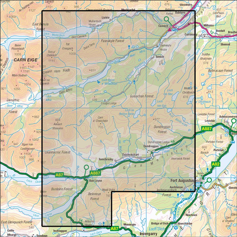415 Glen Affric & Glen Morriston, Cannich - Anquet Maps