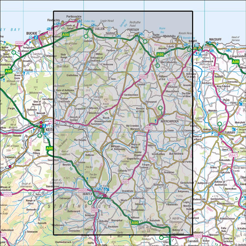 425 Huntly & Cullen, Portknockie & Portsoy - Anquet Maps