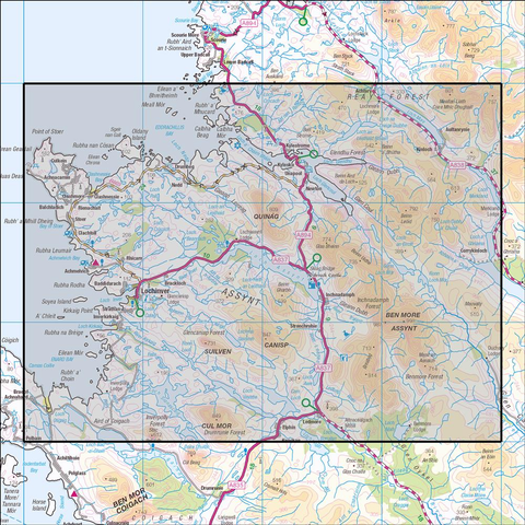 442 Assynt & Lochinver - Anquet Maps