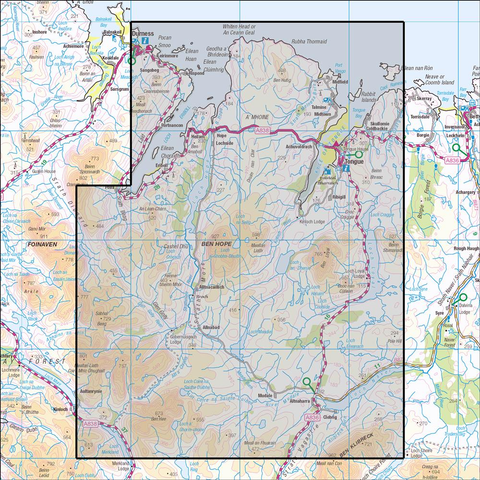 447 Ben Hope, Ben Loyal & Kyle of Tongue - Anquet Maps