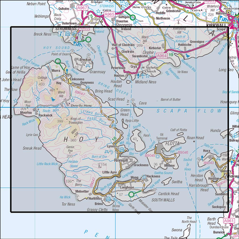 462 Orkney - Hoy, Flotta & South Walls Historical Mapping - Anquet Maps