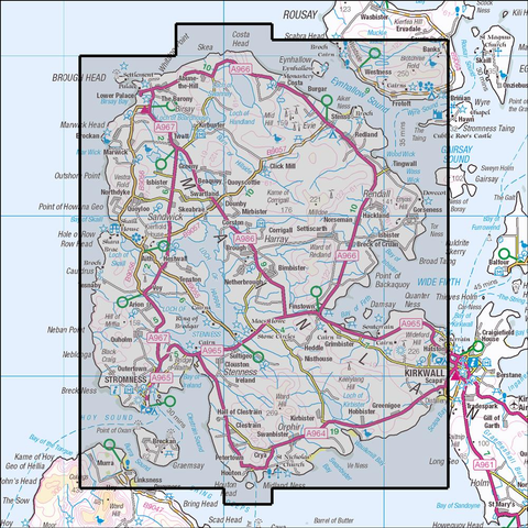 463 Orkney - West Mainland - Stromness & Tingwall Historical Mapping - Anquet Maps