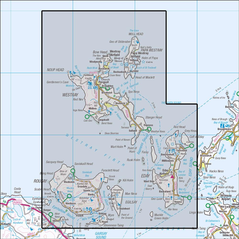 464 Orkney - Westray. Rousay & Eday - Anquet Maps
