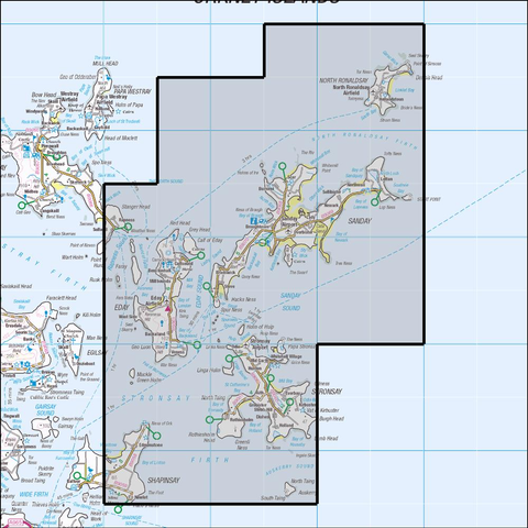 465 Orkney - Sanday, Stronsay, Eday & North Ronald Historical Mapping - Anquet Maps