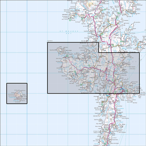 467 Central Mainland - Lerwick, Papa Stour & Foula - Anquet Maps
