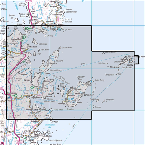 468 Shetland - Mainland North East & Whalsay Historical Mapping