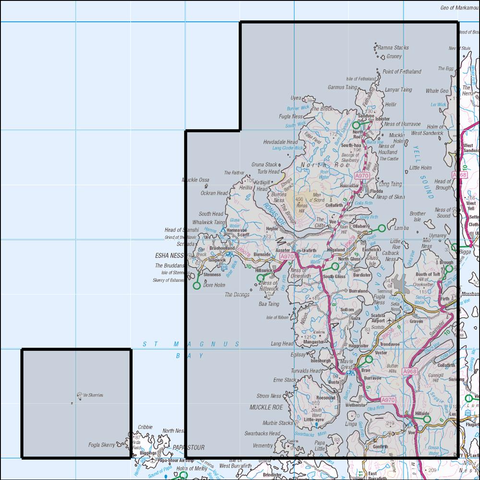 469 Shetland - Mainland North Historical Mapping - Anquet Maps
