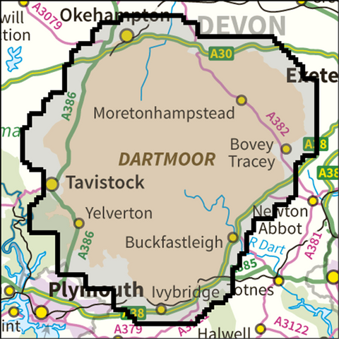 Dartmoor National Park - Anquet Maps