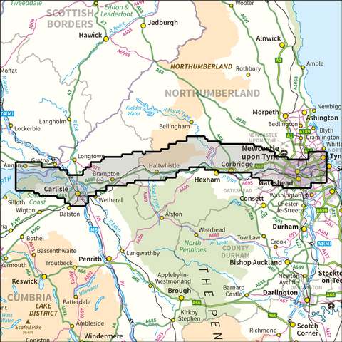 Hadrian's Wall Path National Trail - Anquet Maps
