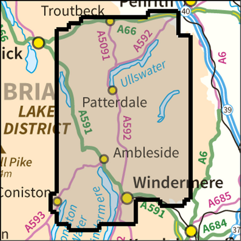 SW Lake District East - Anquet Maps