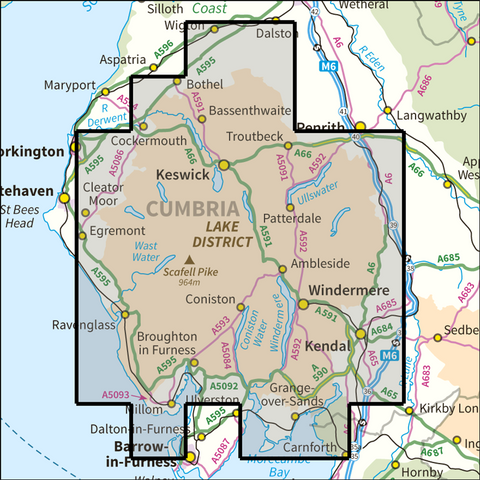Lake District National Park - Anquet Maps
