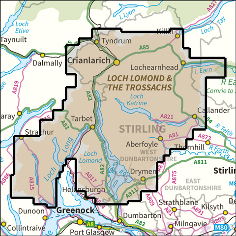Loch Lomond and the Trossachs National Park - Anquet Maps