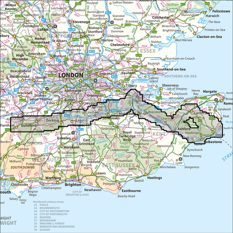 North Downs Way National Trail - Anquet Maps