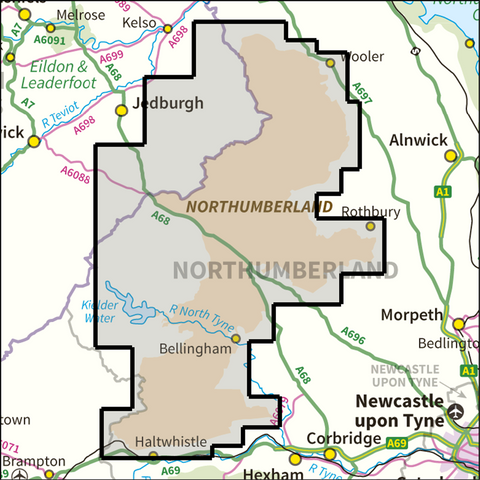 Northumberland National Park - Anquet Maps
