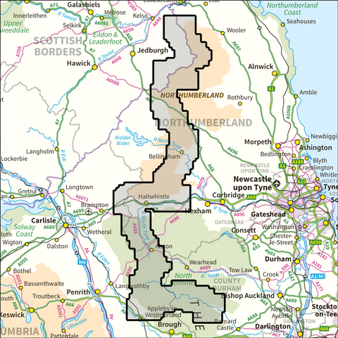 Pennine Way (Northern Section) National Traila - Anquet Maps