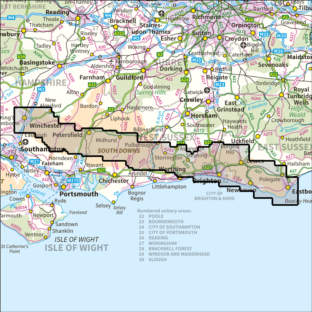 South Downs Map South Downs Way National Trail OS 1:25,000 Explorer – Anquet Maps South Downs Map
