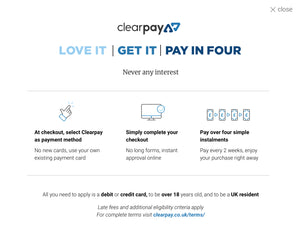 Clearpay now at 7 Clothing
