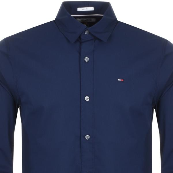 Tommy Jeans Stretch Long Sleeved Shirt Navy