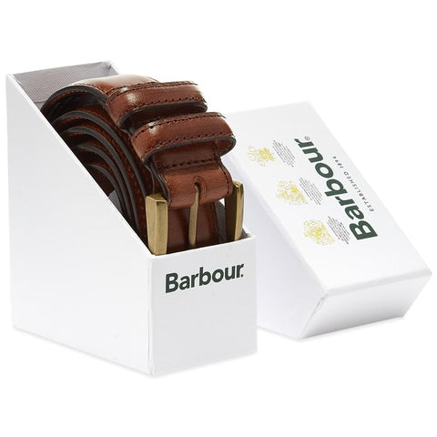BARBOUR BELT GIFT BOX DARK BROWN Barbour - 7 clothing Cardiff