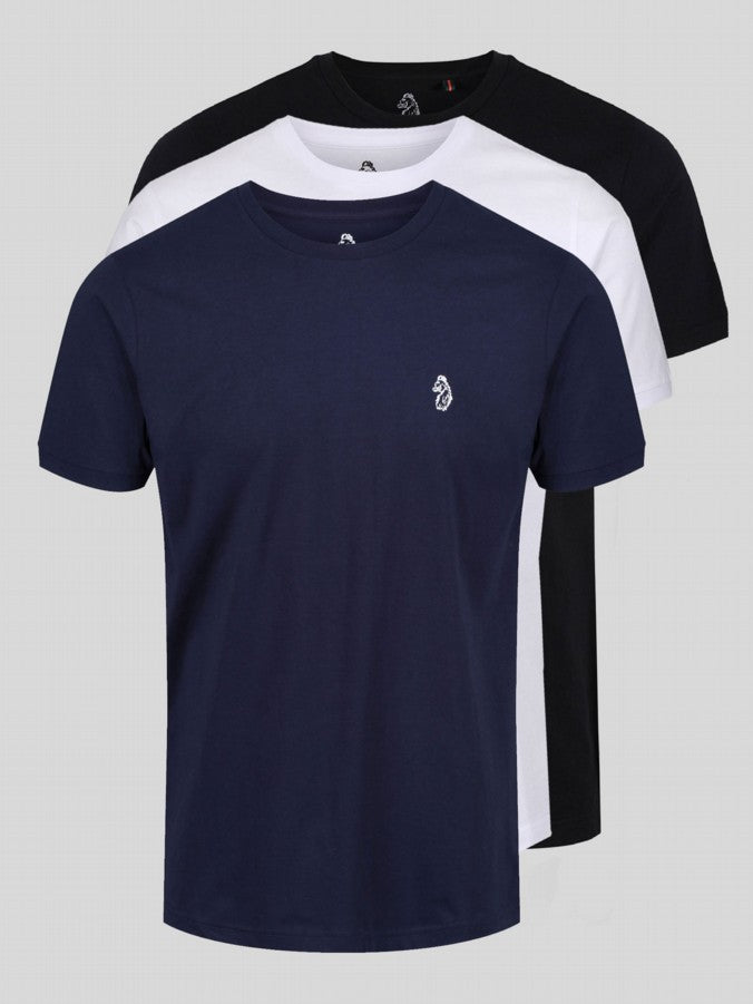 Luke Sports Johnys 3 Pack Black/White/Navy Luke Sport - 7 clothing Cardiff