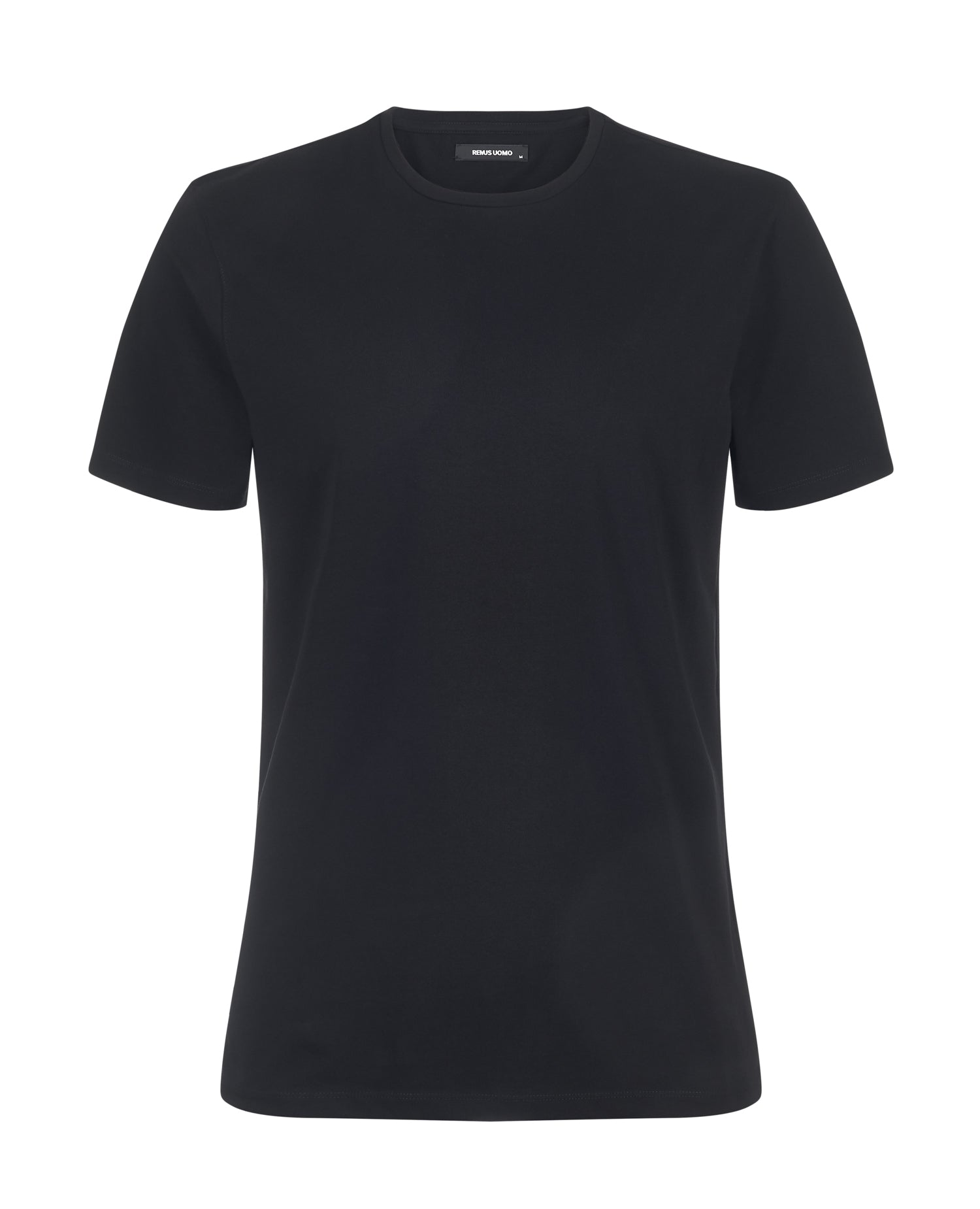 Remus Tapered Fit Cotton-Stretch T-Shirt Black 53121 - 7clothing