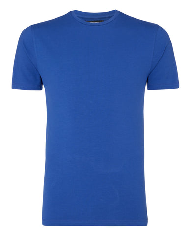 Remus Tapered Fit Cotton-Stretch T-Shirt Royal Blue 53121 - 7clothing