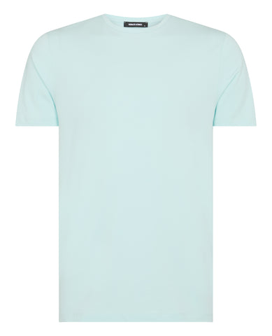 Remus Tapered Fit Cotton-Stretch T-Shirt Seafoam 53121 - 7clothing