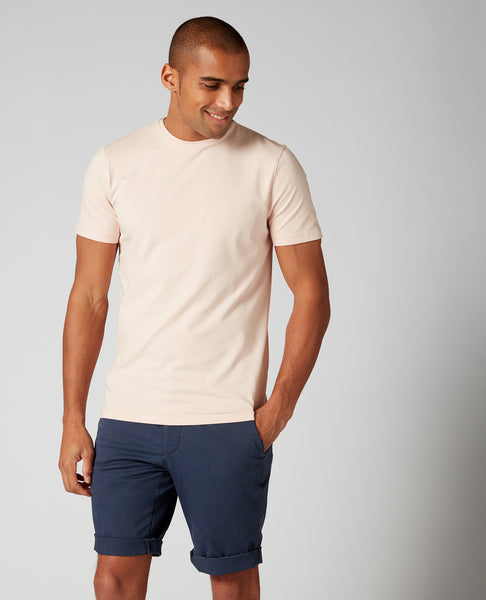 Remus Tapered Fit Cotton-Stretch T-Shirt Light Pink 53121 - 7clothing