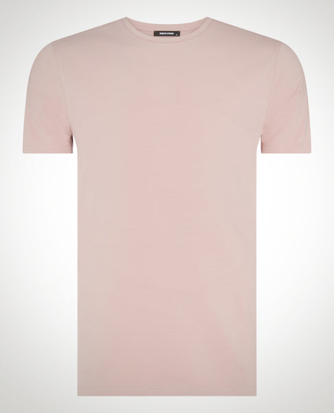 Remus Tapered Fit Cotton-Stretch T-Shirt Mauve Pink 53121 - 7clothing