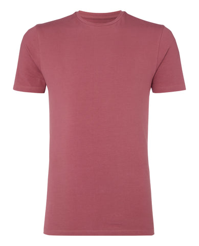 Remus Tapered Fit Cotton-Stretch T-Shirt Berry 53121 - 7clothing