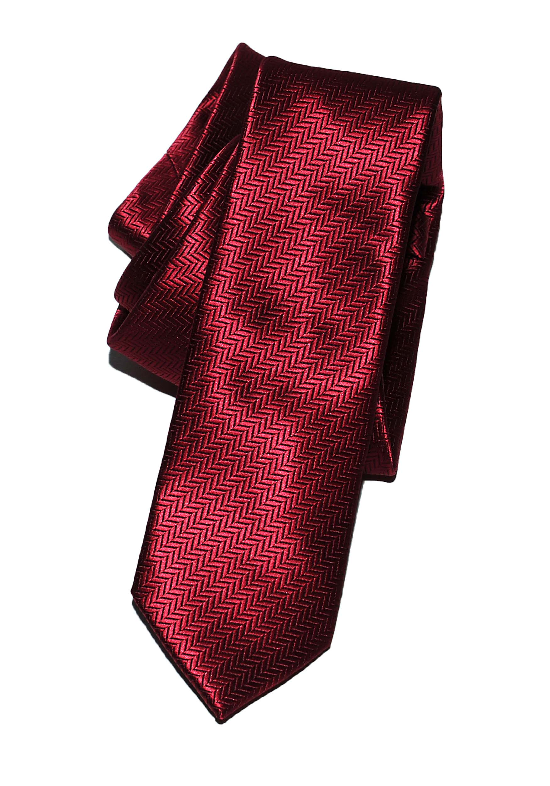 Remus Uomo Red Narrow Tie - N4223 Remus Uomo Jeans - 7clothing Cardiff