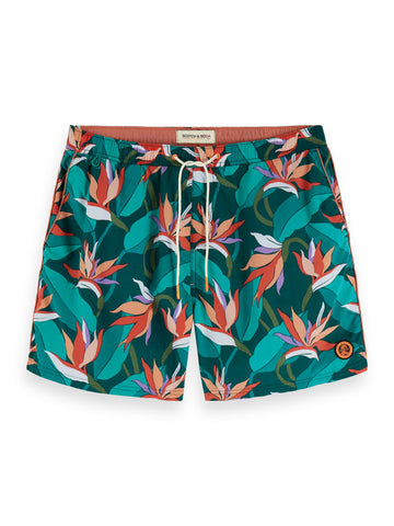 Scotch And Soda Floral Swim Shorts 154473 - 7clothing