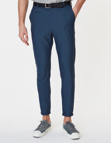 Como Light Herringbone Suit Pants DARK NAVY Les Deux - 7clothing Cardiff