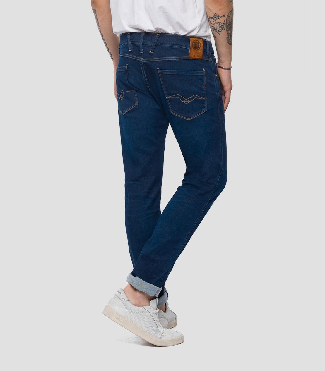 HYPERFLEX SLIM FIT ANBASS JEANS SURF BLUE Replay - 7clothing Cardiff