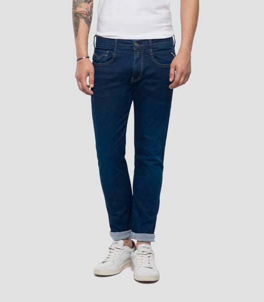 HYPERFLEX SLIM FIT ANBASS JEANS SURF BLUE Replay - 7 clothing Cardiff