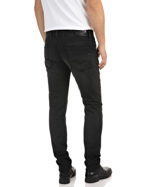 Replay Hyperflex Broke And Repair Black Jeans Replay - 7 clothing Cardiff