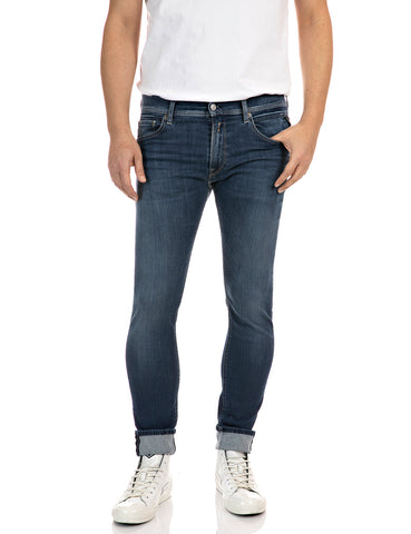 Replay Hyperflex Re-Used Medium Blue Denim Replay - 7 clothing Cardiff
