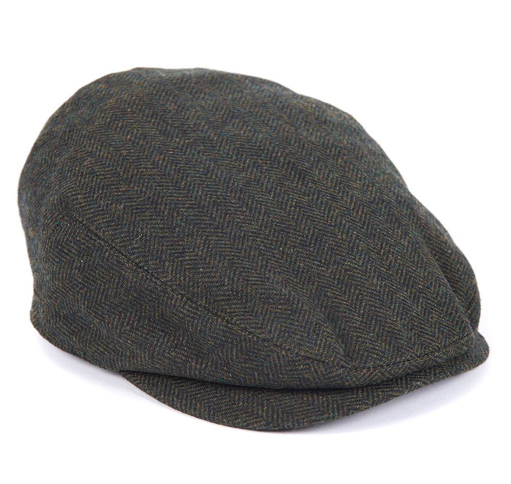 BARBOUR BARLOW FLAT CAP Olive Barbour - 7 clothing Cardiff