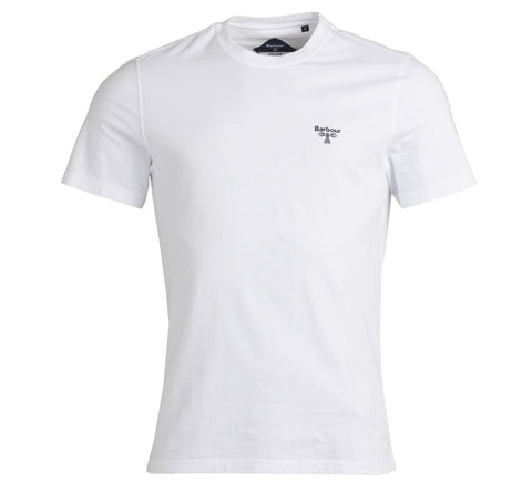 Barbour Beacon Small Logo Tee White Barbour Beacon - 7 clothing Cardiff