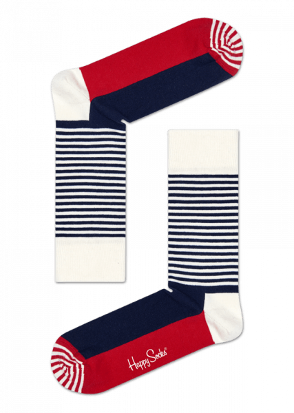 Happy Socks Half Stripe SH01-068 Happy Socks - 7 clothing Cardiff