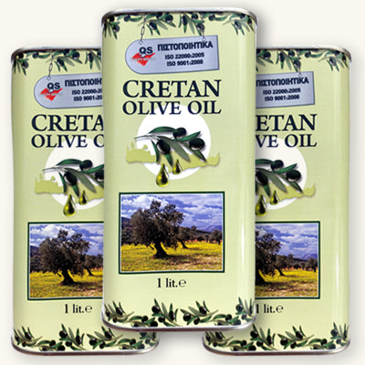 3 x Cretan Extra Virgin Olive Oil - 1ltr can