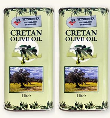 2 x Cretan Extra Virgin Olive Oil - 1ltr can