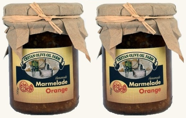 2 x 300gr Cretan Homemade Orange Marmalade
