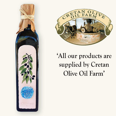 Cretan Extra Virgin Olive Oil - 500ml Handmade Ceramic Fronted Bottle