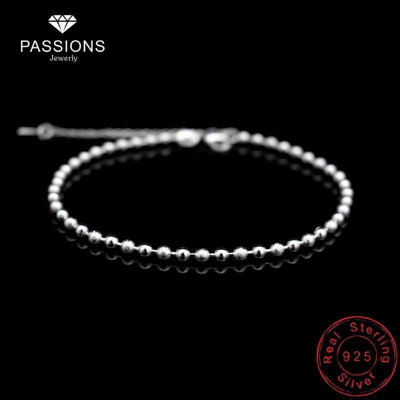 Cupid Silver Bead Anklet - Nielsen Anchors