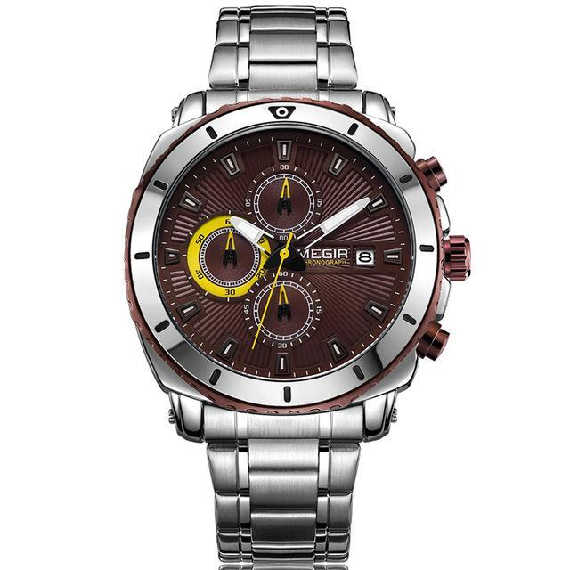 Mens Quartz Luminous Chronograph Watch - Nielsen Anchors