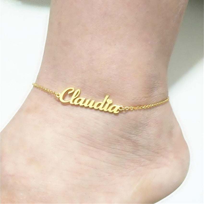 Cupid Personalized Anklet - Nielsen Anchors
