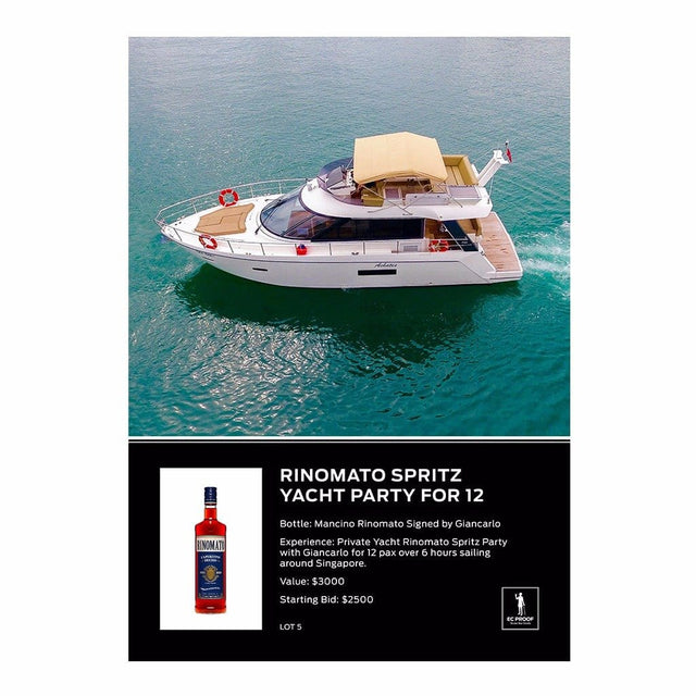 Rinomato Spritz Yacht Party for 12
